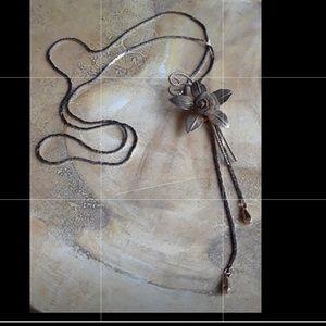 Vintage flower slider necklace